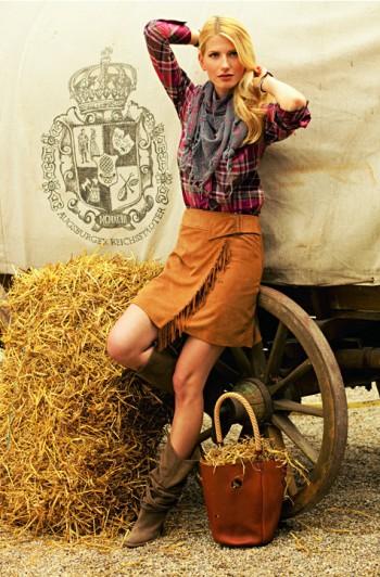 Burda Style | Leather Skirt 02/2010 #121