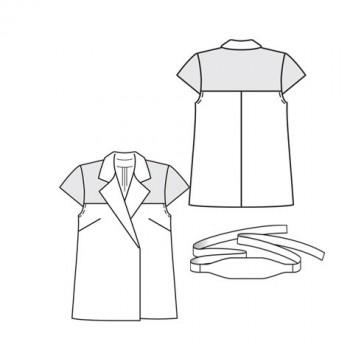 Burda Style | Blouse-like Jacket 02/2010 #131