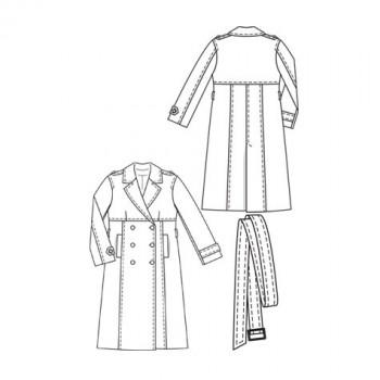 Burda Style | Swing Trench Coat (Plus-Size) 02/2010 #133