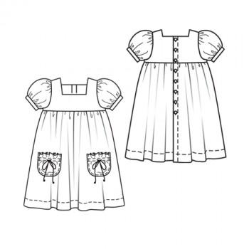 Burda Style | Girls' Dress 5/2010#151