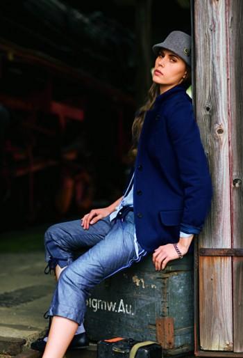 Burda Style   Jacket with Standing Collar 08/2010 #110