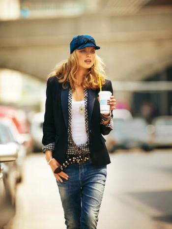 Burda Style   Jacket with Contrasting Collar 11/2010#121