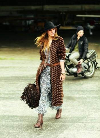 Burda Style   Long Hippie Coat 10/2011 #131