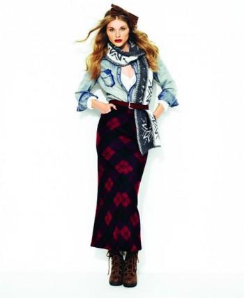Burda Style | Ankle-length stretch-knit skirt 10/2011 #103