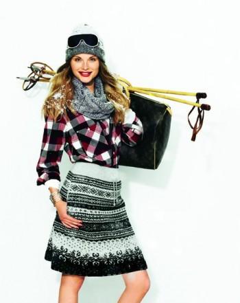 Burda Style | Knit A-line skirt 10/2011 #104