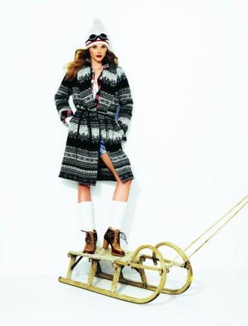 Burda Style | Long Sweater Coat with Tie 10/2011 #108