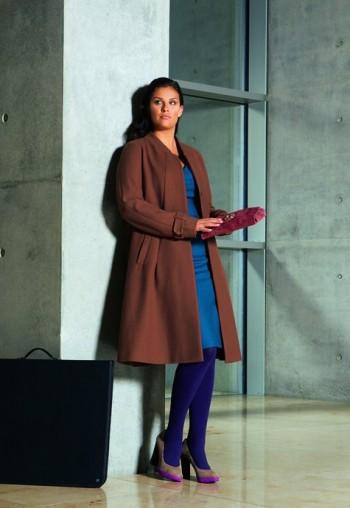 Burda Style | Plus size Long A-line Coat 10/2011 #134