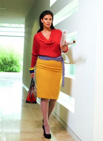 Burda Style | Plus size wool pencil skirt 10/2011 #136A