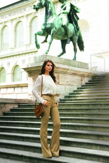 Burda Style | Bootcut flannel trousers 10/2011 #127