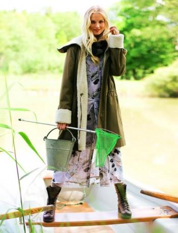 Burda Style | Parka with Lambskin Cuffs and Collar 11/2011 #113