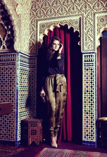 Burda Style | Leopard print trousers 11/2011 #103