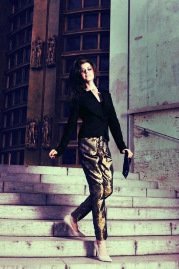 Burda Style | Brocade wrap trousers 11/2011 #105