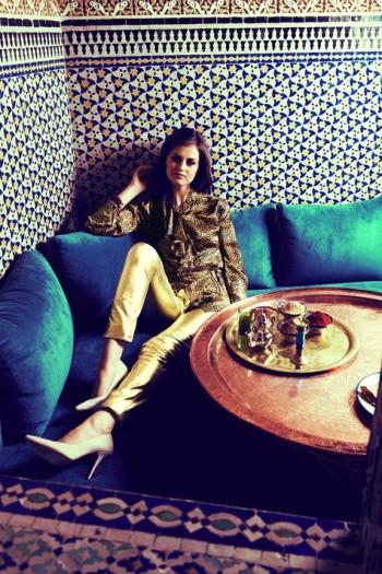 Burda Style | Leopard satin blouse 11/2011 #106