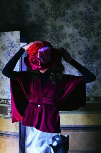 Burda Style | Red Kimono Wrap Top 11/2011 #121