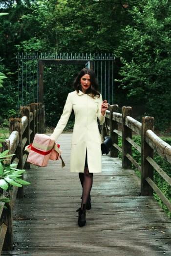 Burda Style | White wool coat 12/2011 #104