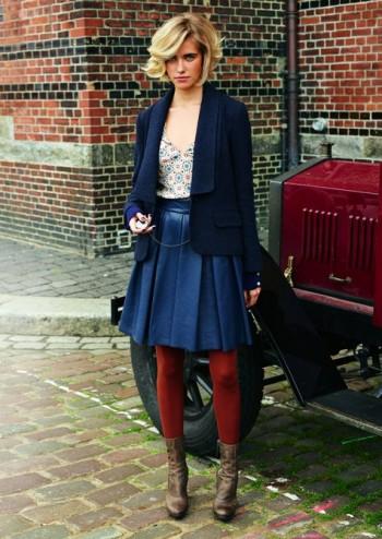 Burda Style | Leather skirt 12/2011 #124