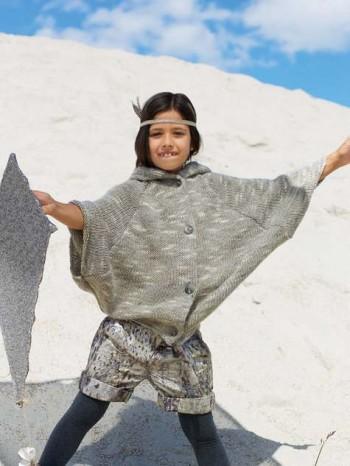 Burda Style | Girl's Knit Poncho 11/2012 #156