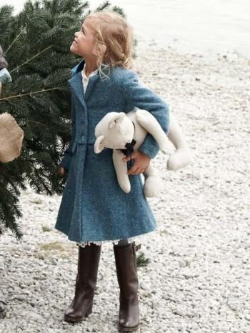 Burda Style   Girl's Dress Coat 12/2012 #156