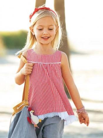 Burda Style | Girl's Checked Tunic 05/2012 #146