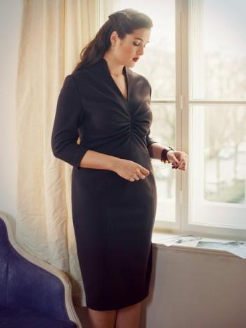 Burda Style   Pleated Dress (Plus-Size) 08/2012 #142