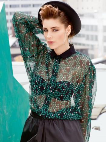 Burda Style   Sheer Blouse 09/2013 #122