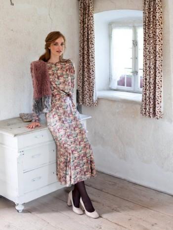 Burda Style | Gather-and-Tuck Dress 09/2013 #112