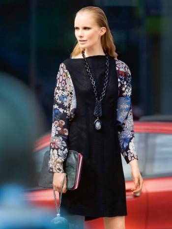 Burda Style | Contrast Tunic Dress 09/2013 #108