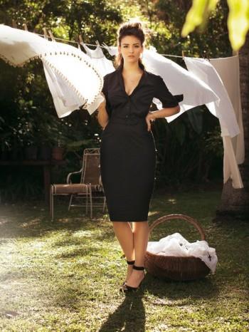 Burda Style   Belted Dress (plus-size) 05/2012 #137