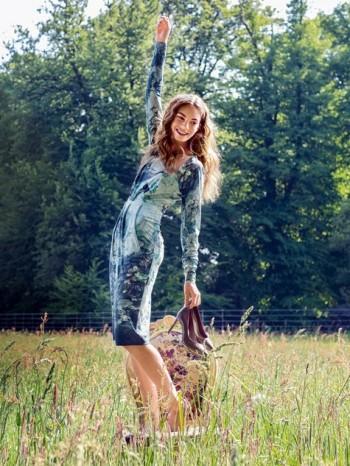 Burda Style | Portrait Neck Dress 10/2013 #124B