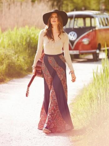 Burda Style | Swirl Maxi Skirt 10/2013 #133