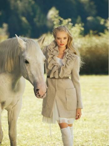 Burda Style | Ruffle-neck Coat 01/2012 #107