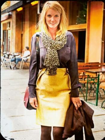 Burda Style | Gold Lamé Skirt 11/2013 #123