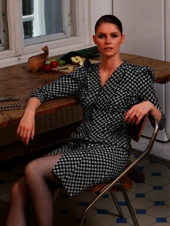 Burda Style | Ruched Shirt Dress 11/2013 #126