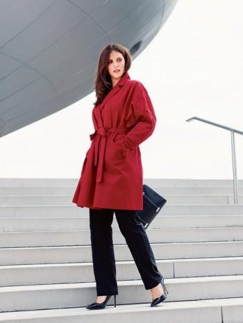 Burda Style   Coat with Slash Pockets (Plus Size) 12/2013 #131