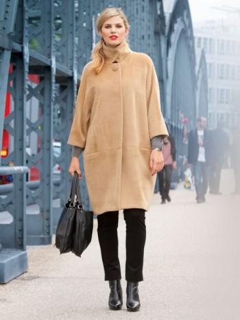 Burda Style | Camel Coat (Plus Size) 11/2013 #131