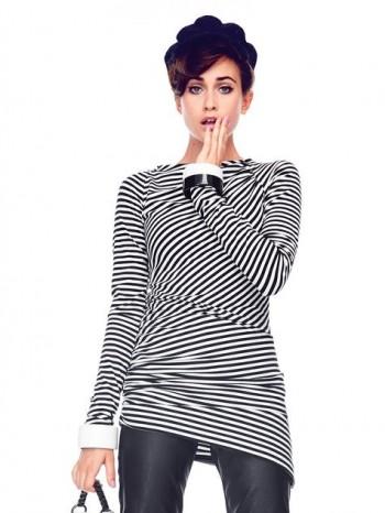 Burda Style | Asymmetrical Jersey Top 01/2014 #122