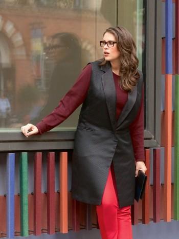 Burda Style | Long Waistcoat (Plus Size) 01/2014 #129