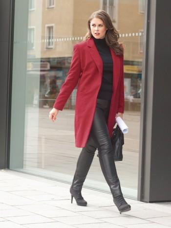 Burda Style | Long Coat (Plus Size) 01/2014 #130