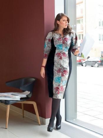Burda Style | Panel Dress (Plus Size) 01/2014 #133