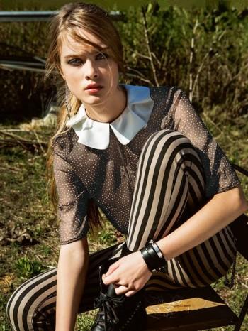Burda Style | Keyhole Blouse with Ruffled Collar 02/2014 #125