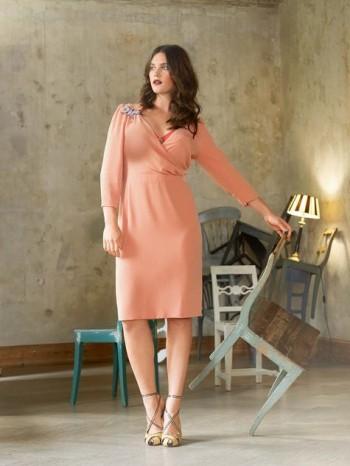 Burda Style   Wrap Neck Dress (Plus Size) 03/2014 #134