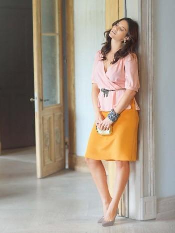 Burda Style   Two Tone 1940s Dress (Plus Size) 03/2014 #133