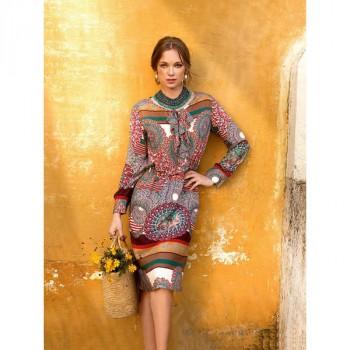 Burda Style   Long Sleeved Ruffle Dress 03/2014 #107