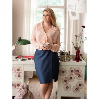 Burda Style | Skirt with Faux Slit (Plus Size) 02/2014 #140
