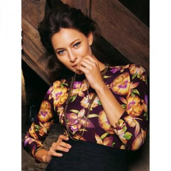 Burda Style | Floral Jersey Shirt 02/2011#106A