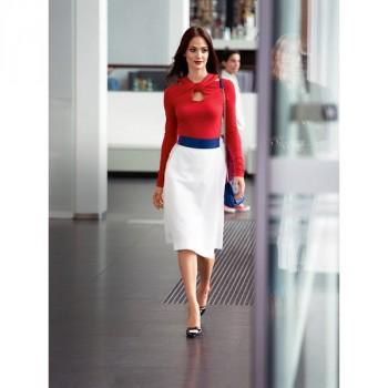 Burda Style   Pleated A Line Skirt 02/2014#103