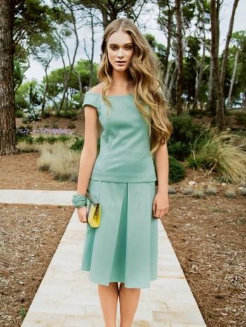 Burda Style   Pleated A Line Skirt 02/2014#105