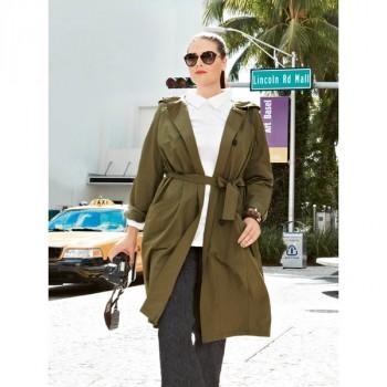 Burda Style | Spring Trench Coat (Plus Size) 04/2014 #131