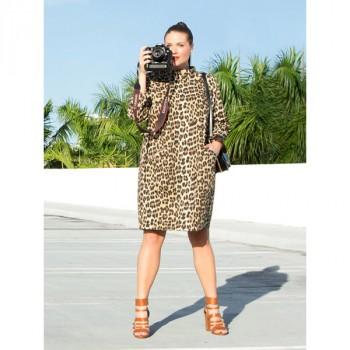 Burda Style | Leopard Cocoon Coat (Plus Size) 04/2014 #130