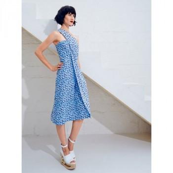 Burda Style | One Shoulder Dress (Petite-Size) 06/2014 #101